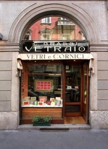 Vetrina negozio - Grassi Carlo Milano